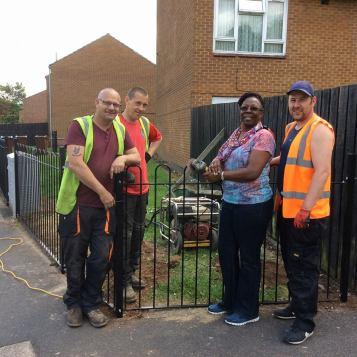 Notts city workmen