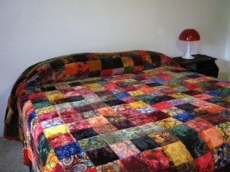 velvet bedspreads 1960s