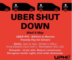 Uber Shut down Union of Private Hire Drivers