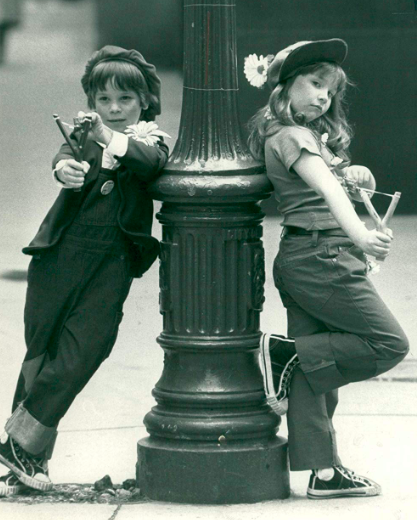 Hayley Griffiths and Jimmy Endicott from Doncaster.Bisto kids 1984